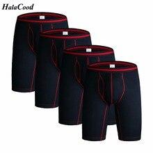 4 stks/partij mannen Lange Ondergoed Boxers Katoen Underpant Kwaliteit Ondergoed Slipje Plus Size Boxershorts Zachte Comfortabele Lounge