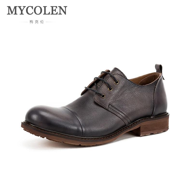 MYCOLEN Men New Formal Shoes Spring/Autumn Luxury Fashion Men Shoes Brand Men Leather Shoes Men Classic Business Gentleman все цены