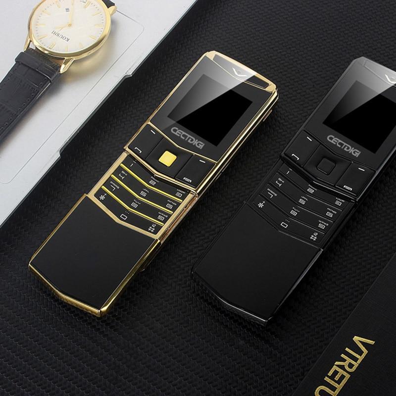 Luxury Slide Phone Cectdigi V05 Metal Body Smallest Mini Dual Sim Mobile Phone Bluetooth Magic Voice