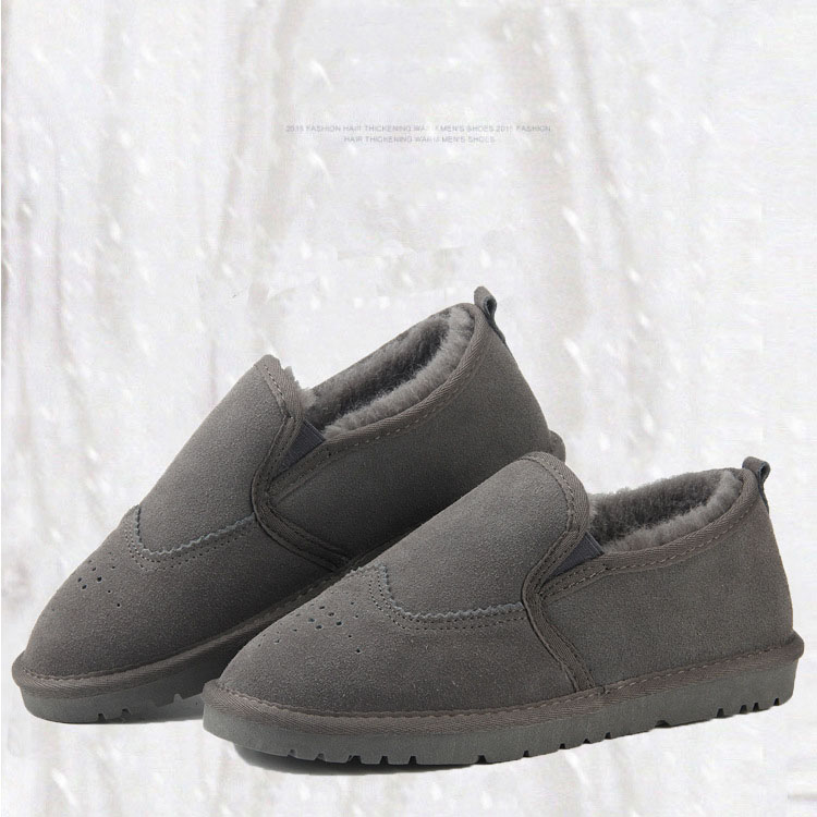 Quente Neve Preguiçosos De Para Green Dark Botas Homens E Genuíno Além black O Sapatos Veludo gray Outono Casual Dos Inverno Elegante Couro 8YqwwZ