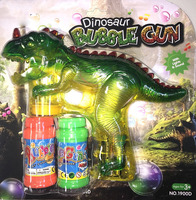 Dinosaur Bubble Shooter Gun Light Up Bubbles Blower with LED Flashing Lights and Sounds Dinosaur Toys for Kids, Boys and Girls 3