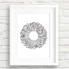 Arabic Calligraphy Spray Muslim Islamic Art Print Poster Wall Pictures Canvas Painting No Framed Home Decor Wall Decoration
