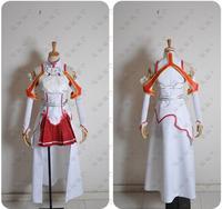Sword Art Online Asuna Yuuki Dress Cosplay Costume Any Size Customized