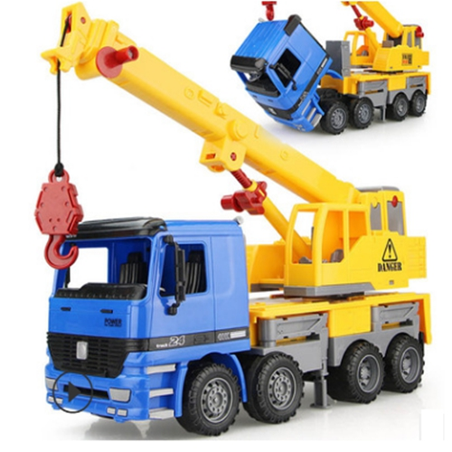 1:22 Large size Boys engineering car crane hook machine child baby toy car truck model diecast toys vehicles children toys
