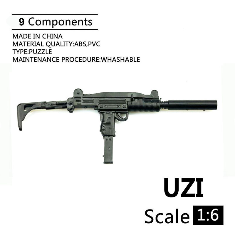 US $2 75 31% OFF|1:6 UZI Submachine Gun Plastic Assembled Firearm Puzzle  Model For 12