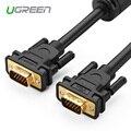 Кабель Ugreen 1080P VGA плоский кабель VGA штекер-штекер Черный Плетеный высокопремиум экранированный кабель HDTV VGA 1 м 2 м 3 м 5 м 8 м 10 м