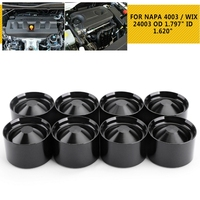 Black 8 X Aluminum Car Storage Cups For NAPA 4003 / WIX 24003 OD 1.797 ID 1.620 Interior Accessories Automobiles Fuel Filters