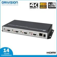 ZY-EH404 4 каналов hdmi IP декодер потокового вещания H.264/MPEG4 4K @ 30/1080P @ 60 hdmi кодировщик от завода-производителя