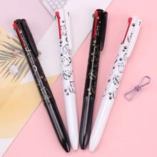 4 في 1 أربعة اللون أسود أبيض القط متعدد الألوان الصحافة الكرة قلم ثابتة الإبداعية علامة مكتب اللوازم المدرسية