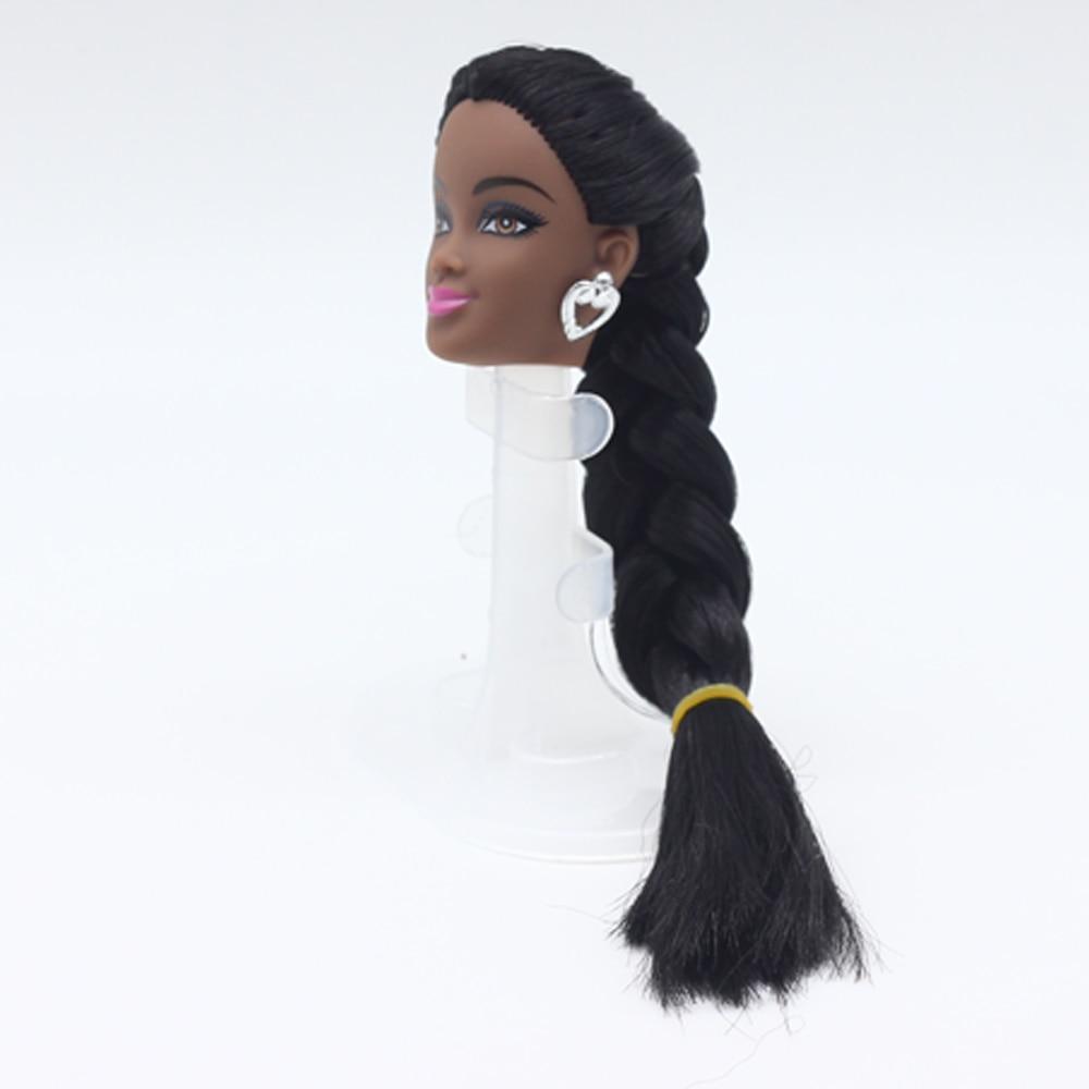 Pcs Black Doll Hair Head For Barbie Dolls As For FR Dolls Black - Hairstyle barbie doll