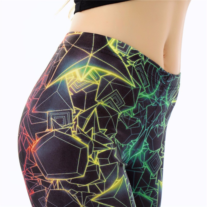 NADANBAO wholelsales New Fashion Women leggings 3D Printed color legins Ray fluorescence leggins pant legging for Woman 20
