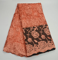 PR339-4! good quality embroidered French lace fabric,factory price African net lace fabric for women dress!