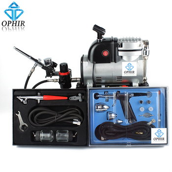 OPHIR 3 Airbrush Kit & Professional Spray Air Brush with Compressor & Tank for Craft Hobby Paint_AC116+004A+050+069