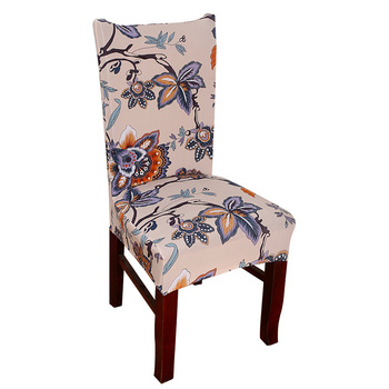 Kolorowe drukowanie pokrowce na krzesła elastan zielony elastyczne pokrowce na krzesła miękkie pokrowce na krzesła weselne kolacja restauracja 42 tanie i dobre opinie PRINTED NoEnName_Null Amerykański styl DW-YZT-CZDM White Red Brown Green Gray
