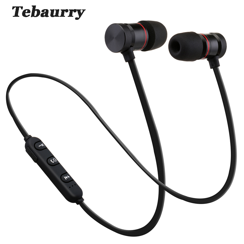 Tebaurry Magnetic Wireless Bluetooth Earphone With Mic Stereo Sport Running Bletooth Headset for iPhone Samsung Xiaomi audifono mllse anime detective conan bluetooth earphone sport wireless headphones stereo bluetooth headset with mic for iphone samsung