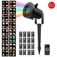 Remote Control 16 Patterns Projector Lamp Film Light Slide Light Christmas Snowflake Lamp 16 Patterns Projection Lamp