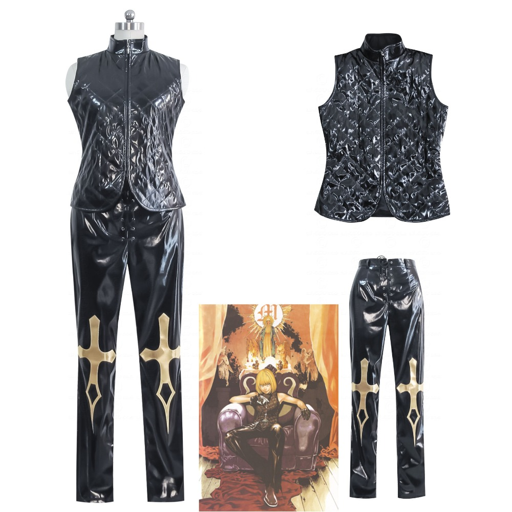 Anime DEATH NOTE Costumes Mihael Keehl Cosplay Tailored costumes for men and women DEATH NOTE vest pants play costume
