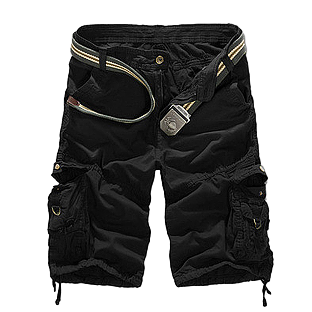 2018 Fashion Army Camouflage Combat Camo Men High Waist Shorts Plus Size Male Cargo Pockets Trousers Short Homme