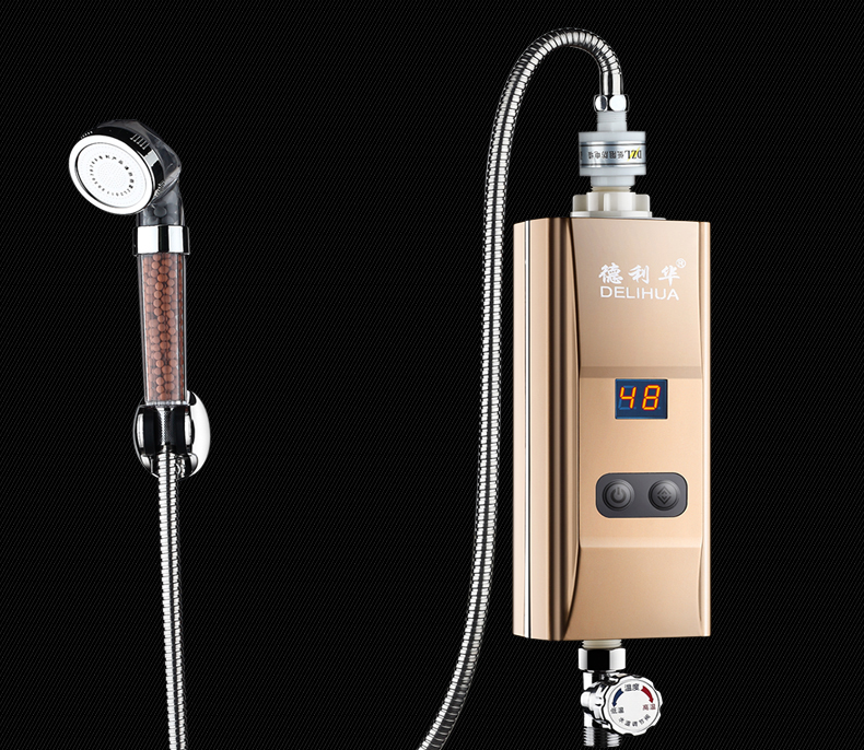 Bottom water flow inlet hot water tap  instant tankless Kitchen Electric water heater  heating faucet shower bath Heater