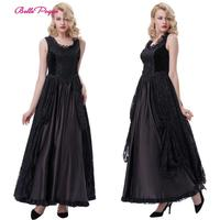 Belle Poque Medieval Victorian Dresses Womens Luxury Sexy Lace Gothic Velvet Evening Princess Party Floor Length Long Maxi Dress