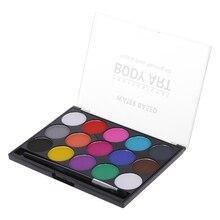 15 цветов краска для тела макияж краска для лица ing вода масло чернила граффити с кисточкой