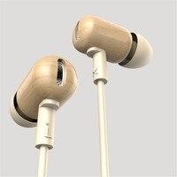 100 New Original DZAT DF 10 Wooden Headphones Headset DIY Super Bass HiFi Earphones With Mic