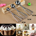 2017 New Kitchen Ice Cream Mash Potato Scoop Stainless Steel Spoon Spring Handle Kitchen Accessories 3 Sizes for Choose
