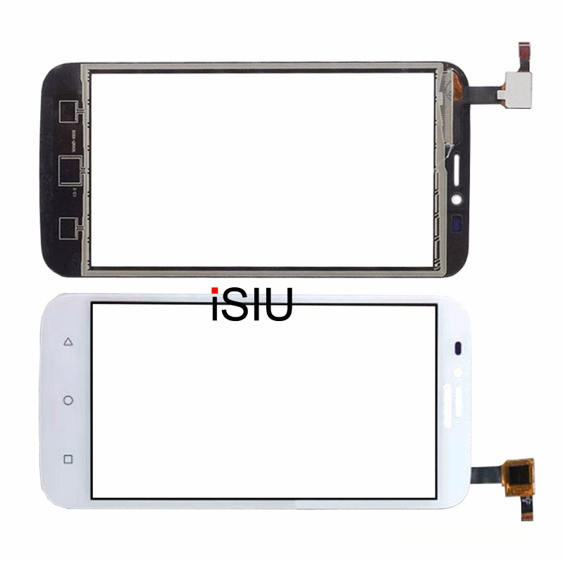ISIU Pour Huawei Y625 Écran Tactile Mobile Téléphone Tactile Panneau verre Avec Digitizer Capteur Pièces De Rechange Noir Blanc PAS LCD AFFICHAGE