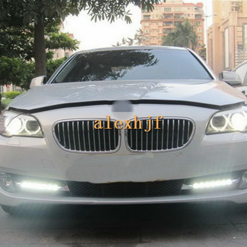 July King LED Daytime Running Lights DRL, LED Fog Lamp Case for BMW 5 Series F10 F11 F18 520i 525i 530i 535i 550i 2010~2013, 1:1 car bumper grill kit with led fog lights drl angel eyes wires for bmw e60 e61 5 series 525i 530i 545i 550i xi 2004 2007 pdk618