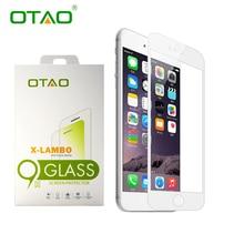 OTAO Real 3D Полное Покрытие Закаленное Стекло Защитная Пленка для Apple iPhone 6 6 S Plus 9 H Против Царапин С Розничной пакет