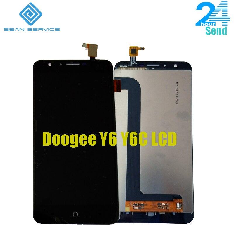 Pour DOOGEE Y6 Y6C téléphone portable écran LCD + TP écran tactile numériseur assemblage + outils 5.5 1280x720 pièces de réparation + outils en stock