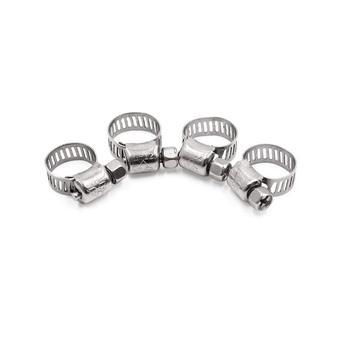 Uxcell 4 sztuk srebrny Tone ze stali nierdzewnej 18-32mm regulowany robak biegów samochodów zacisk węża tanie i dobre opinie Hose Clamp Material Stainless Steel 4 x Hose Clamp Silver Tone 6-12mm 0 24 8mm 0 31
