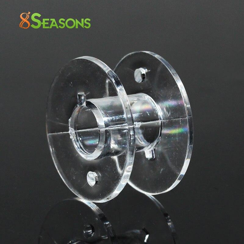 25 Bobines//Canettes de Fil Plastique Transparent 20x11mm