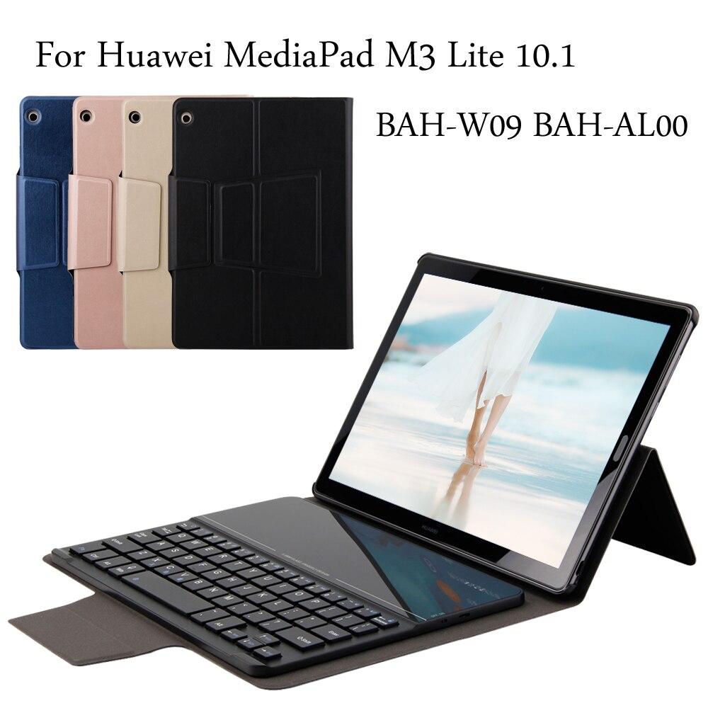 Étui pour huawei MediaPad M3 Lite 10 10.1 BAH-W09 BAH-AL00 nouveau portefeuille de clavier Bluetooth étui folio + cadeau