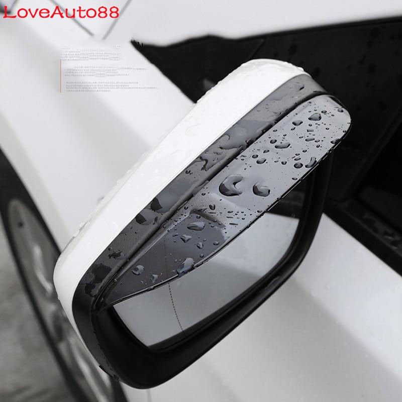 Car Rear View Mirror Shield Rain Eyebrow Weather Strip Auto Mirror Rain Shield Shade Cover Protector For Toyota Camry 2018 2019