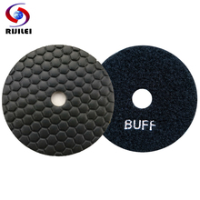 RIJILEI 10 Pcs/lot 4 inch dry polishing pad 100 mm Marble diamond pads Use for granite floor BUFF