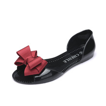 2019  New Style Of Womens Flat Sole Comfortable Soft Plastic Fishmouth Shoes Korean