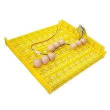 جديد 63 بيضة حاضنة بدوره صينية حضانة الدواجن معدات الدجاج البط وغيرها من آلَةُ تَفْرِيخ الدواجن تتحول تلقائيا البيض