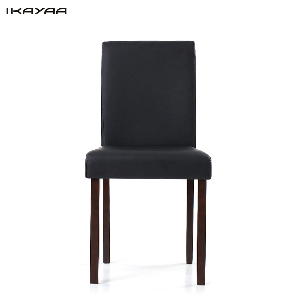 IKayaa US Stock Faux Leather Dining Chairs Wood Frame Padded Kitchen Side  Parson Breakfast Stools Restaurant Furniture Cadeira In Restaurant Chairs  From ...