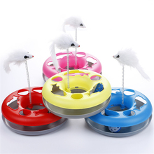 Interactive Plate With Mouse and Ball For Cats