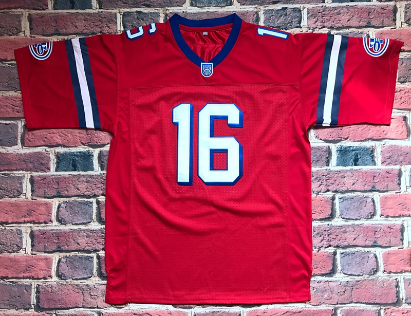 7fee5d6e011 NEW Movie TV Show Keanu Reeves Shane Falco 16 Sentinels Airbrush Portrait Football  Jersey-Red