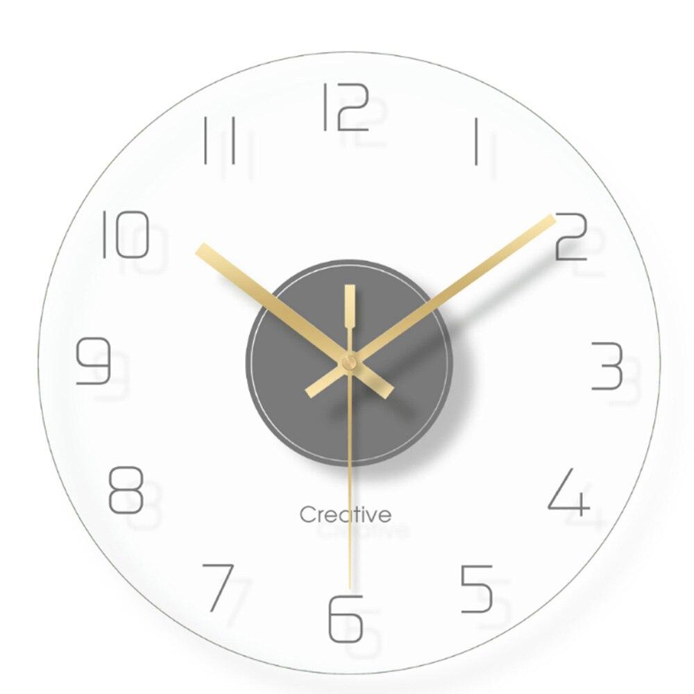 1 PcsNordic Art Mute Wall Clock For Home Decor 12 Inch Modern Minimalist Wall Clocks Simple Decorative Wall Watches