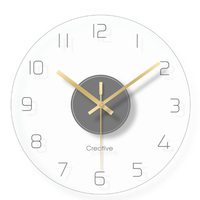 1 PcsNordic Art Mute Wall Clock For Home Decor 12 Inch Modern Minimalist Wall Clocks Simple Decorative Wall Watches
