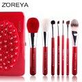 ZOREYA Brand 7pcs Goat Hair Makeup Brush Set Cosmetic Brushes Also Makeup Tool Free Shipping