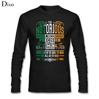 Notorious Conor Mcgregor Under T Shirts Custom Long Sleeve Couple MMA Irish Flag T Shirts Men