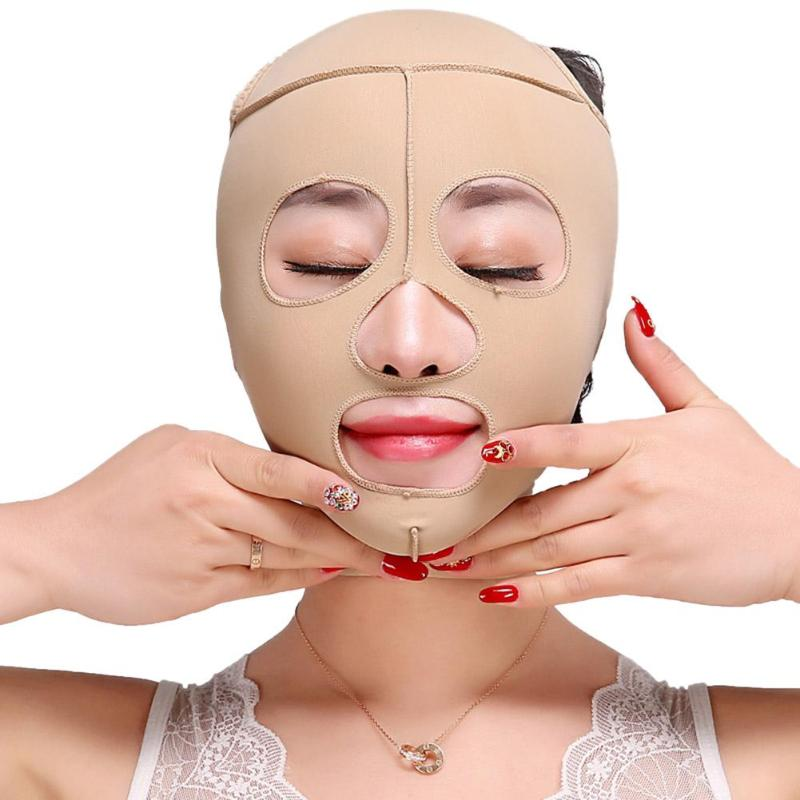 Fashion Wrinkle V Face Elastic Mask Chin Cheek Lift Up Massage Slim Face Skin Care Belt Bandage Full Face Cover Thining Band