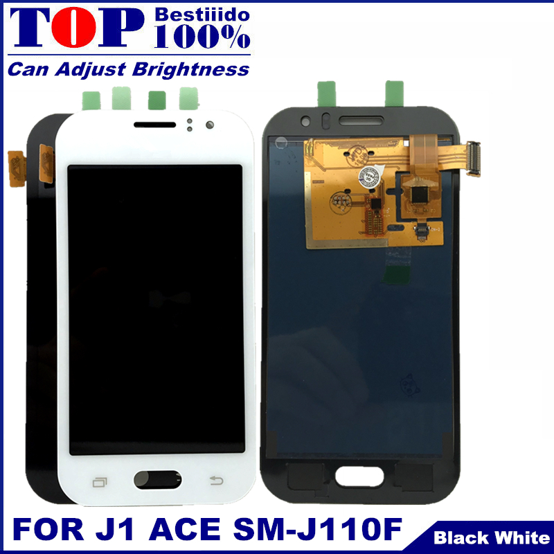 Can Adjust Brightness LCD For Samsung Galaxy J1 Ace J110 SM-J110F J110H LCD Display Touch Screen Digitizer Assembly Replacement