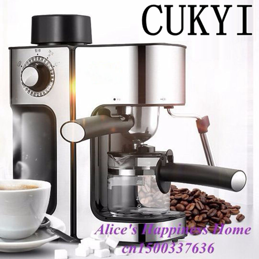 CUKYI Italy espresso electric coffee machine automatic maker , Cup-warming plate machine
