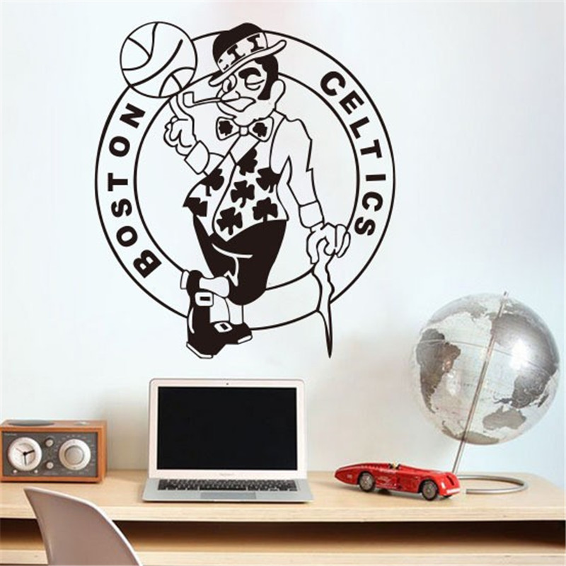 Home Decoration Boston Celtics NBA American Professional Basketball Team Logo Wall Stickers Lliving Room Bedroom