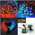 Changeable Solar Fairy Lighting 50LED  Flower Blossom Decorative Lights 7m Christmas Garden Party String Lights